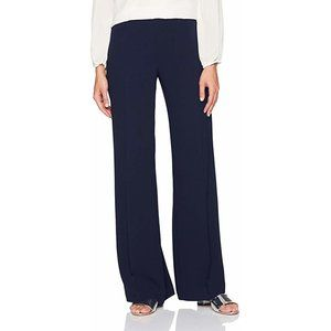 TRINA TURK Penelope Navy Wide Leg Trouser Pants